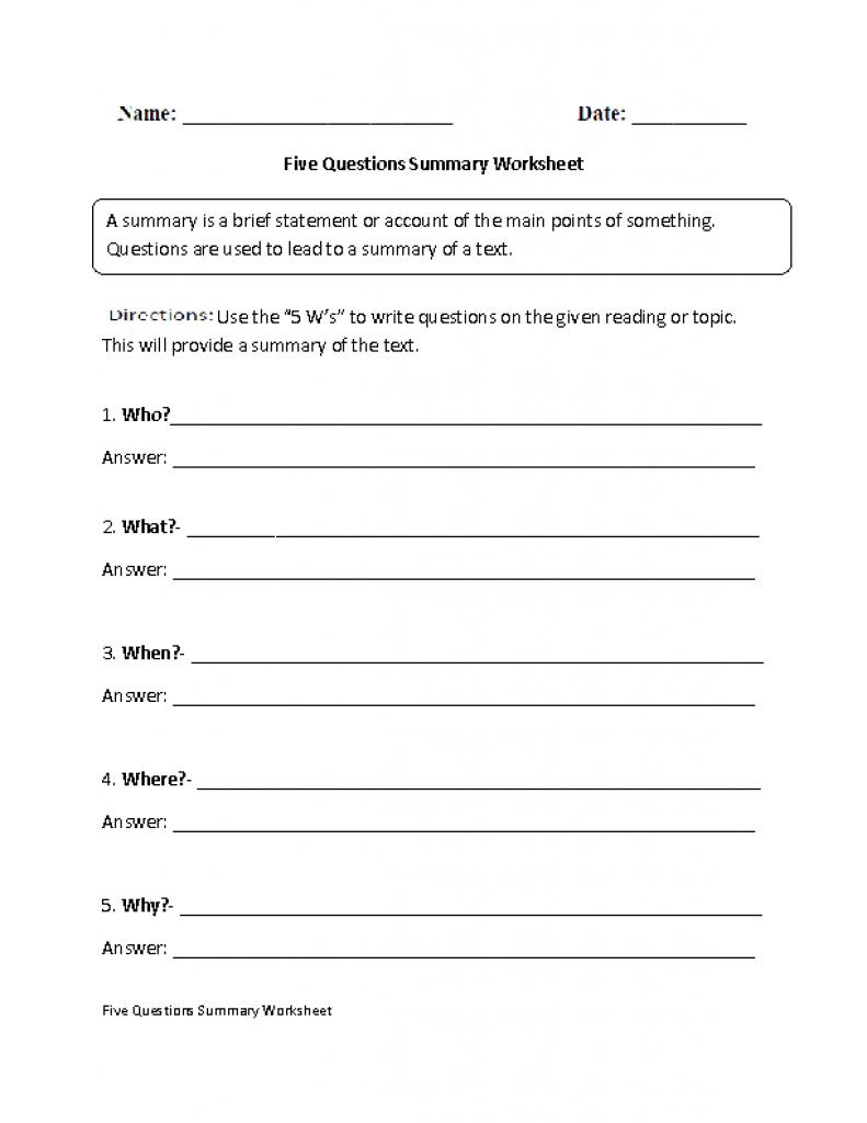 Summarizing Worksheets 4Th Grade For Printable. Summarizing Inside | Free Printable Summarizing Worksheets 4Th Grade
