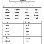 Synonyms And Antonyms Worksheets | Free Printable Antonym Worksheets