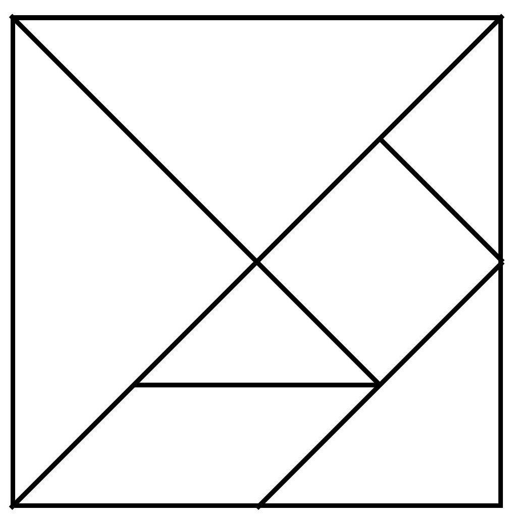 Tanagram Template | Brain Games | Wiskunde Spelletjes, Educatieve | Printable Tangram Worksheets