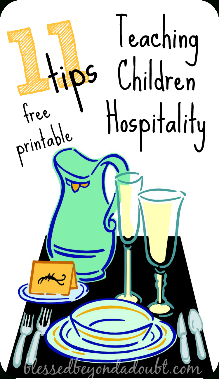 Teaching Children Hospitality - Free Printable! - Blessed Beyond A Doubt | Hospitality Worksheets Printable