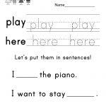 Teaching Sight Words Worksheet   Free Kindergarten English Worksheet | Dolch Words Worksheets Free Printable