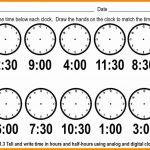 Telling Time Worksheets Printable – Worksheet Template   Free | Telling Time Worksheets Printable