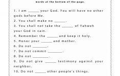 Free Printable Children's Bible Worksheets