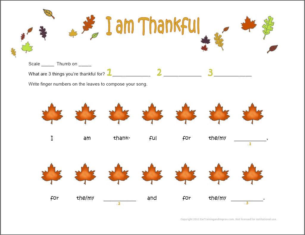 Thanksgiving Music Worksheets - 9 Fun Free Printables For Kids | Free Printable Preschool Music Worksheets