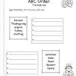Thanksgiving Printouts And Worksheets | Printable Abc Order Worksheets