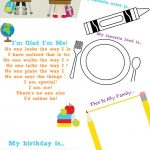 The Best All About Me Preschool Theme Printables   Natural Beach Living | All About Me Worksheet Preschool Printable