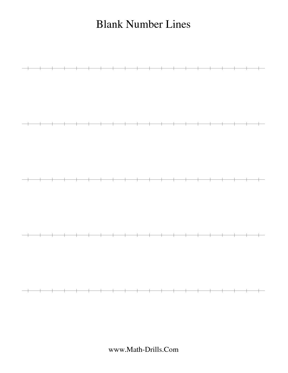 The Blank Number Line Math Worksheet From The Number Sense Worksheet | Free Printable Number Line Worksheets