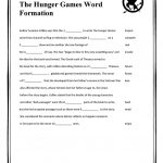 The Hunger Games Word Formation Worksheet   Free Esl Printable | Hunger Games Free Printable Worksheets