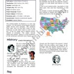 The United States Of America   Esl Worksheetanneclaire | Usa Worksheets Printables