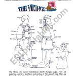 The Vikings   Esl Worksheetinciska | Viking Worksheets Printable