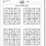 These Printable Sudoku Puzzles Range From Easy To Hard, Including | Printable Sudoku Worksheets