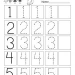 This Is A Numbers Tracing Worksheet For Preschoolers Or | Printable Number Tracing Worksheets For Kindergarten