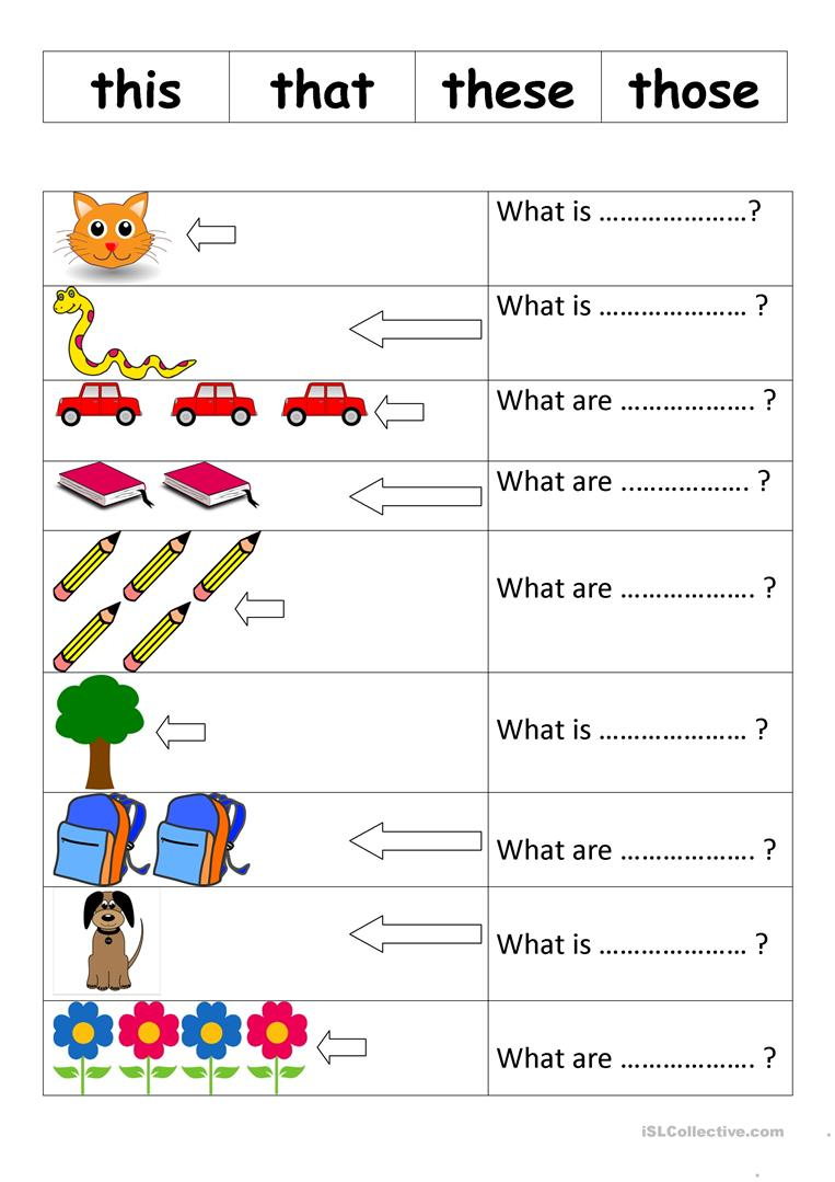 This That These Those Worksheet - Free Esl Printable Worksheets Made | This That These Those Worksheets Printable