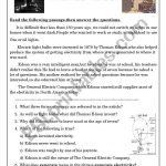 Thomas Edison   Esl Worksheetashraf Amir | Thomas Edison Printable Worksheets