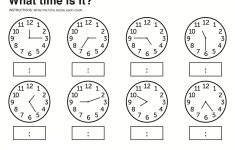 Learn To Tell The Time Printable Worksheets