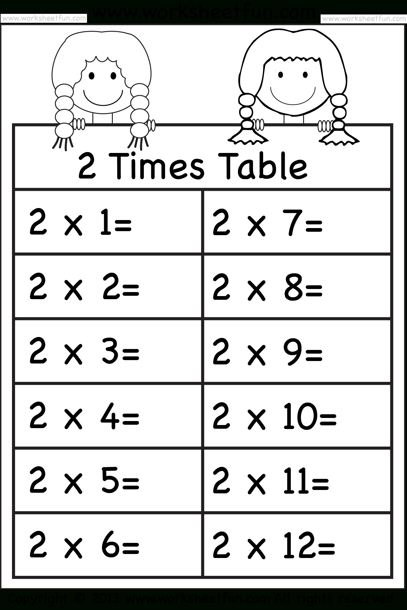 Times Tables Worksheets – 2, 3, 4, 5, 6, 7, 8, 9, 10, 11 And 12 | 5 Times Table Worksheet Printable