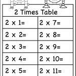 Times Tables Worksheets – 2, 3, 4, 5, 6, 7, 8, 9, 10, 11 And 12 | Free Printable 2 Times Tables Worksheets