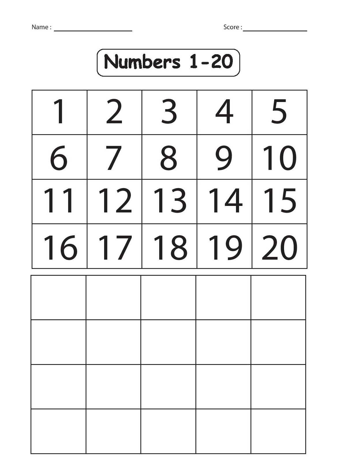 Trace And Write Numbers 1 20 - Hashtag Bg | Writing Numbers 1 20 Printable Worksheets