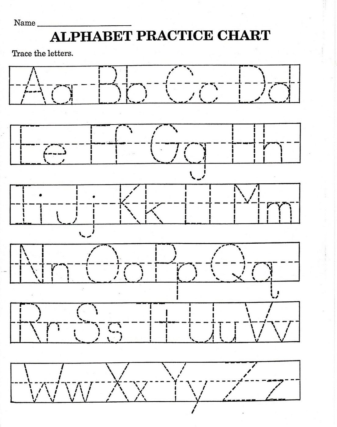 Trace Letter Worksheets Free | Reading And Phonics | Pre K Math | Printable Abc Letters Worksheets