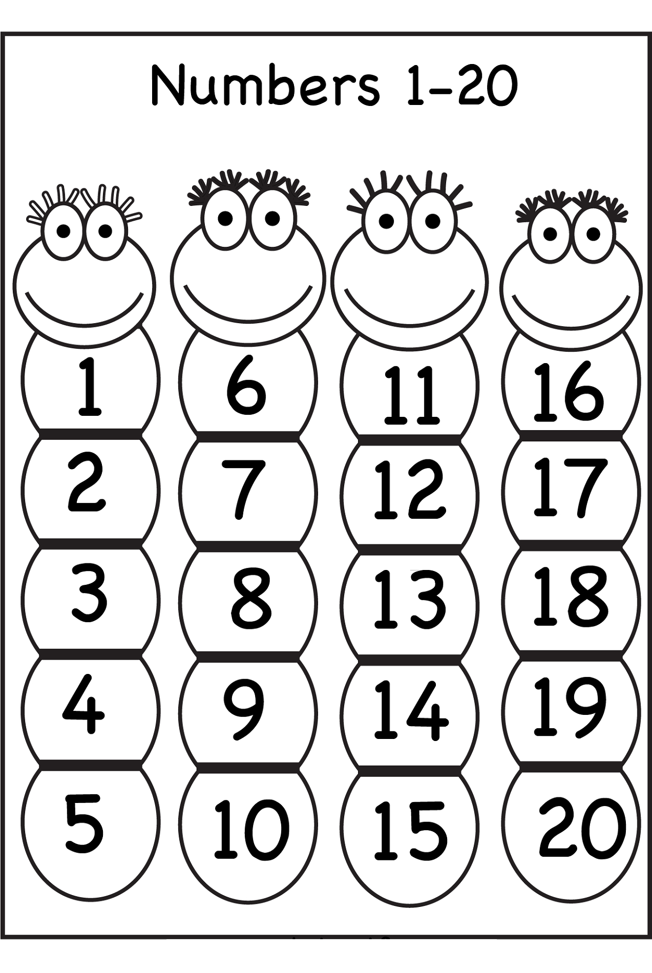 Trace Number 1-20 Worksheets   Activity Shelter   Free Printable Tracing Numbers 1 20 Worksheets