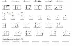 Free Printable Counting Worksheets 1 20