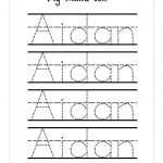 Trace Your Name Worksheet Printable Kiddo Shelter | Best Worksheet | Printable Name Worksheets