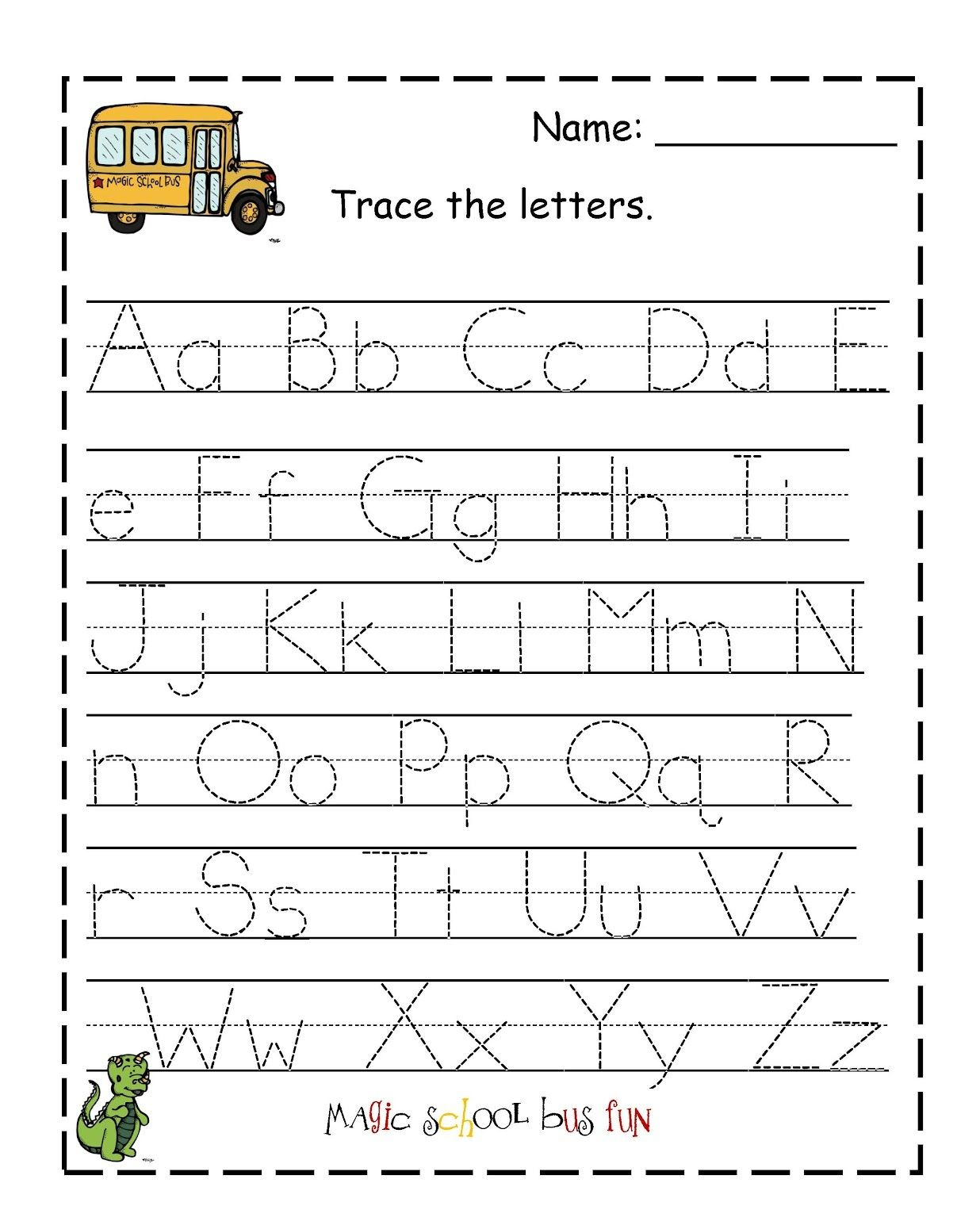 Traceable Letter Worksheets To Print | Alphabet And Numbers Learning | Traceable Abc Printable Worksheets