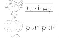 Free Printable Preschool Thanksgiving Worksheets