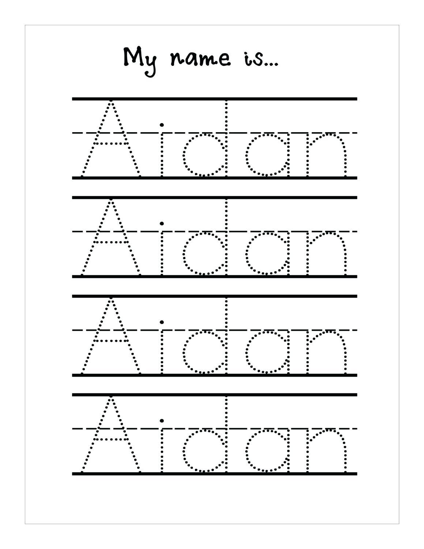Tracing Name Sheets Handwriting Worksheetsseason Tracing Sheets | Printable Name Tracing Worksheets