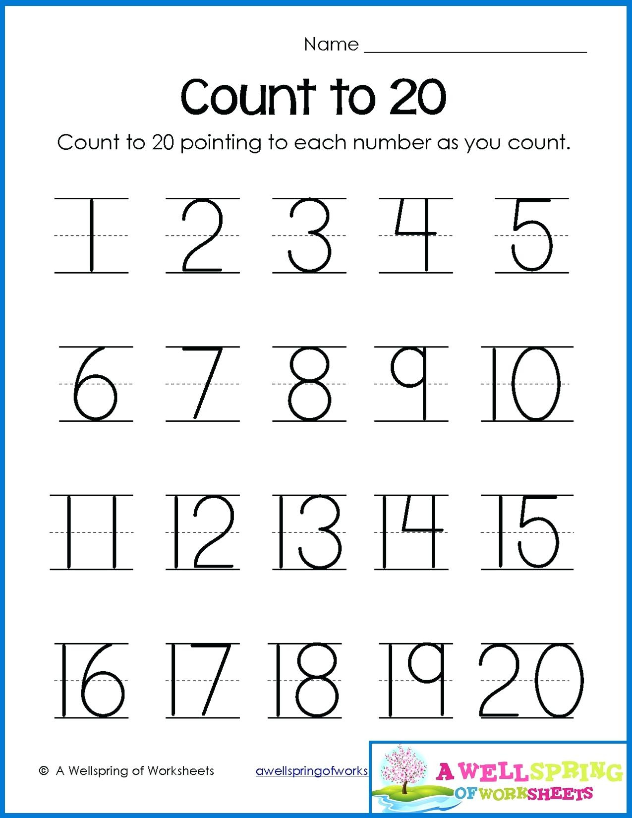 Tracing Name Sheets Tracing Sheets For Kindergarten Numbers - Free | Writing Numbers 1 20 Printable Worksheets