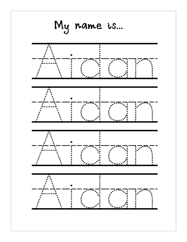 Tracing Name Worksheets - Koran.sticken.co | Free Printable Write Your Name Worksheets