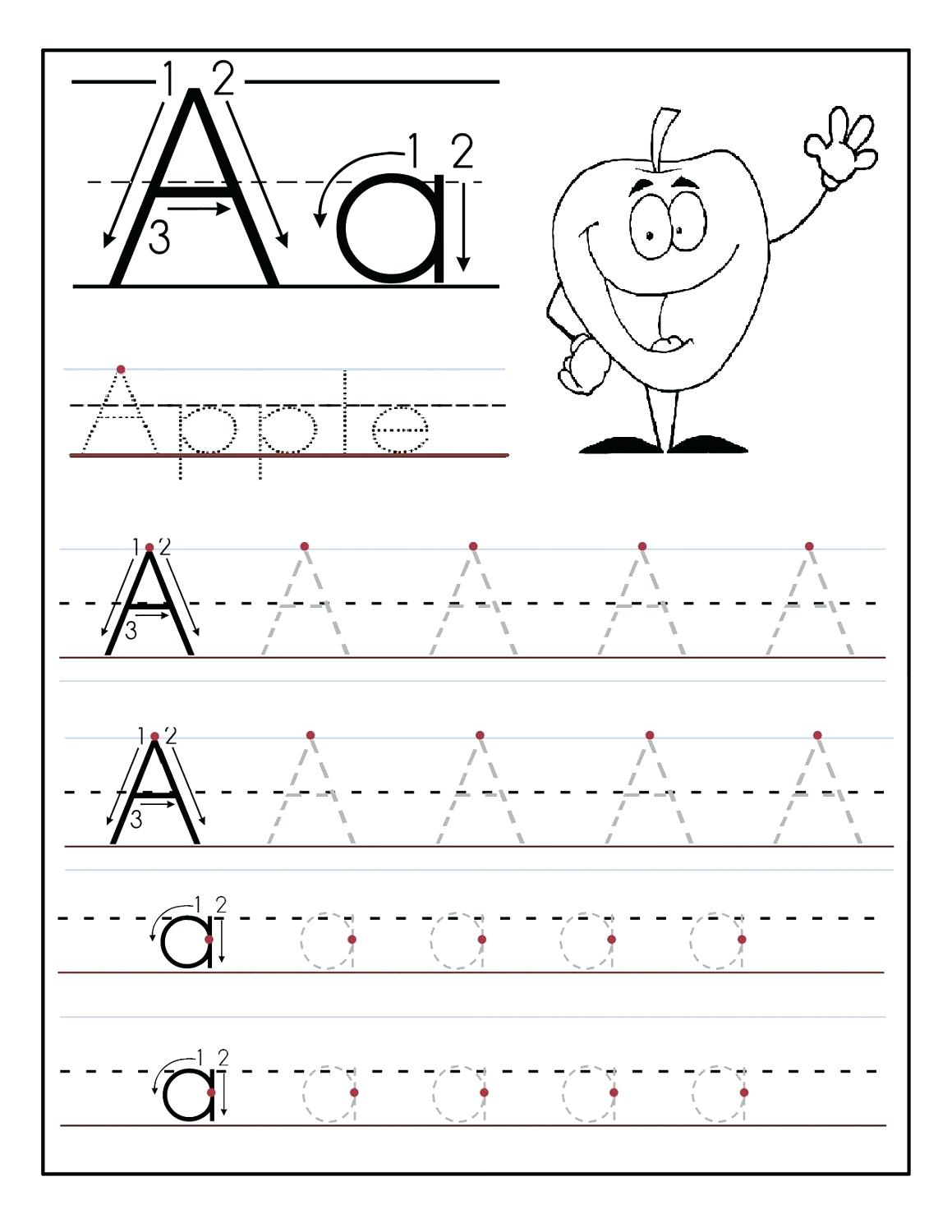 Tracing The Alphabet Printable – Cartofix.club | Printable Abc Letters Worksheets