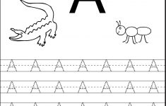 Tracing The Letter A Free Printable | Alphabet And Numbers Learning | Free Printable Preschool Worksheets Tracing Letters