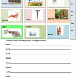 Triple Consonant Blends   Learning Vocabulary Worksheet   Free Esl | Free Printable Consonant Blends Worksheets