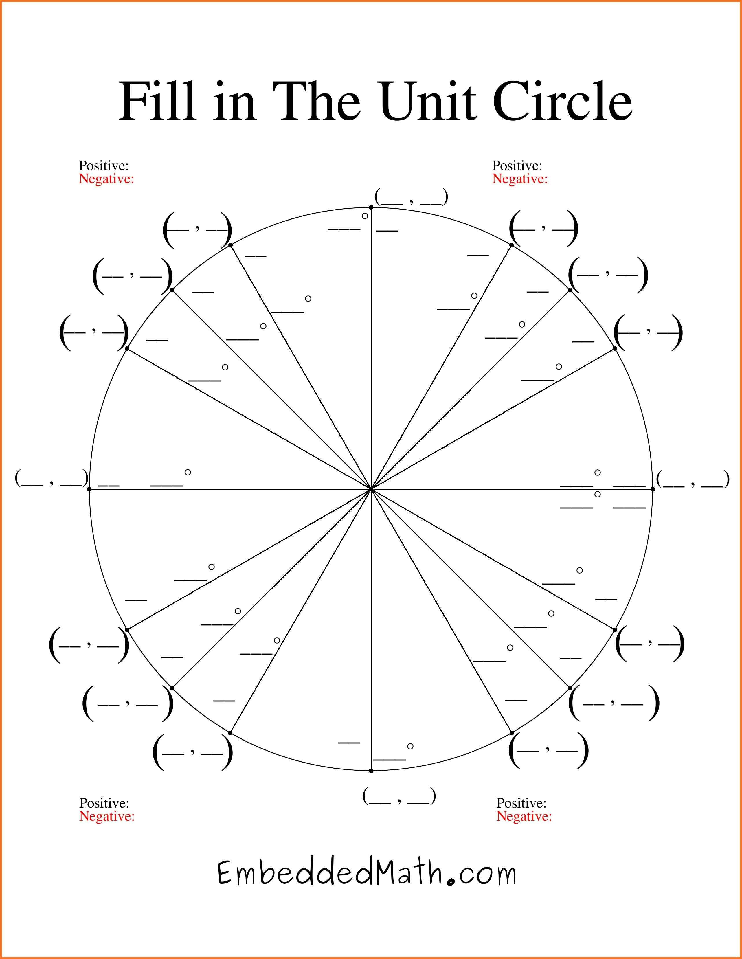 Unit-Circle-Chart-Blank-Unit-Circle-Chart-Printable-Fill-In-The-Unit | Free Printable Pie Graph Worksheets