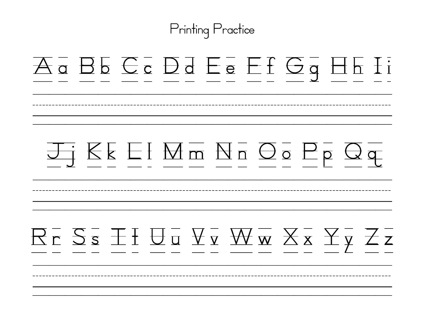 Uppercase And Lowercase Letters Learning | Kiddo Shelter | Lower Case Alphabet Printable Worksheets