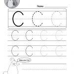 Uppercase Letter C Tracing Worksheet   Doozy Moo | Free Printable Letter C Worksheets