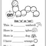 "Use ""a"" Or ""an"" Worksheet   Free Esl Printable Worksheets Made 