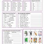 Verb To Be Worksheet   Free Esl Printable Worksheets Madeteachers | Free Printable Verb Worksheets For Kindergarten
