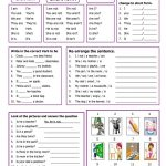 Verb To Be Worksheet   Free Esl Printable Worksheets Madeteachers | Printable Worksheets Esl Students