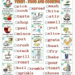 Verbs   Food And Cooking Worksheet   Free Esl Printable Worksheets | Cooking Verbs Printable Worksheets