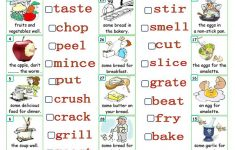 Verbs – Food And Cooking Worksheet – Free Esl Printable Worksheets | Cooking Verbs Printable Worksheets