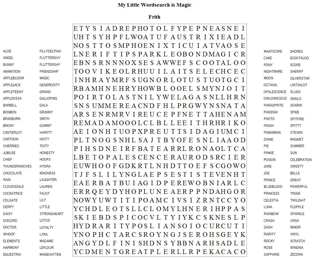 Very Hard Word Searches Printable | Frith Has Brought Us Another | Hard Word Searches Printable Worksheets