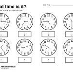 What Time Is It Printable Worksheet | Kolbie | Kindergarten | Printable Telling Time Worksheets 1St Grade