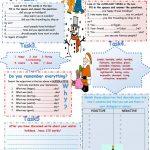 Winter Holidays. Speaking+Writing Worksheet   Free Esl Printable | Winter Holidays Worksheets Printables