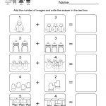 Winter Math Worksheet   Free Kindergarten Seasonal Worksheet For Kids | Free Printable Winter Preschool Worksheets