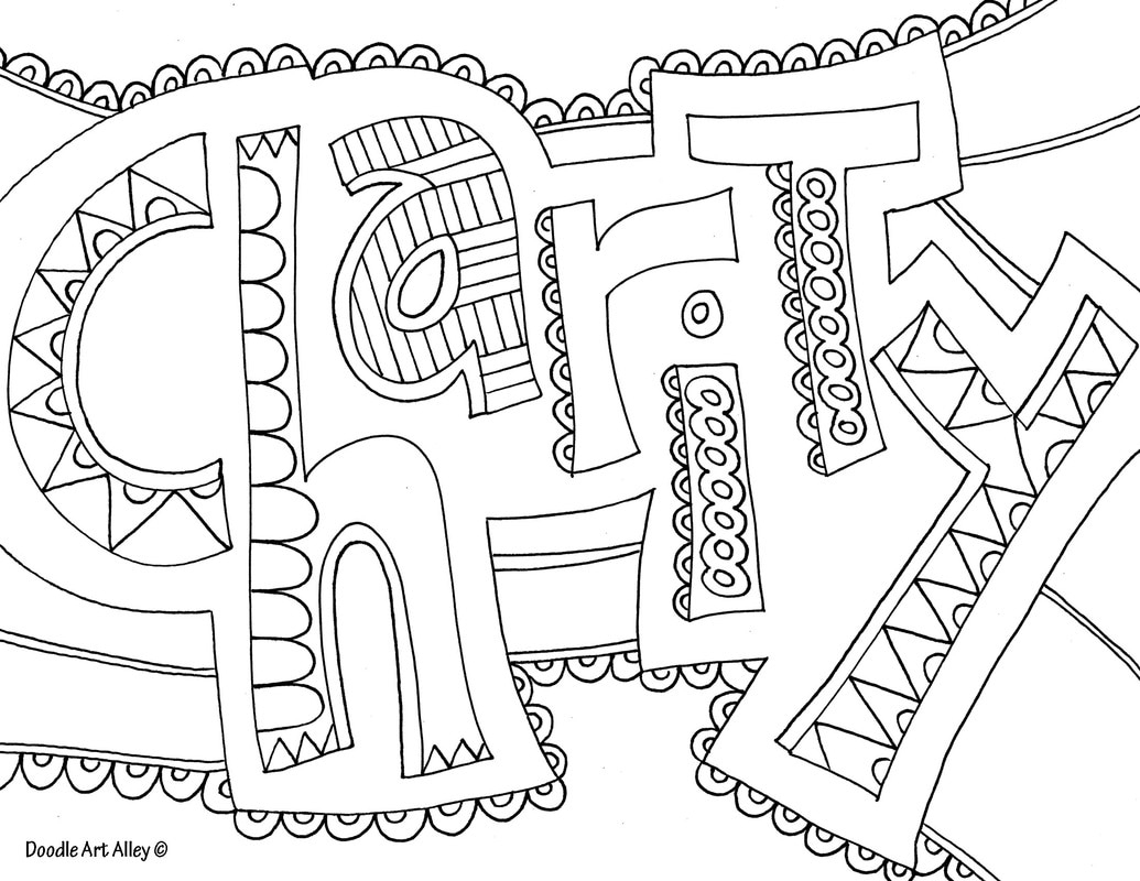 Word Coloring Pages - Doodle Art Alley | Colouring Worksheets Printable