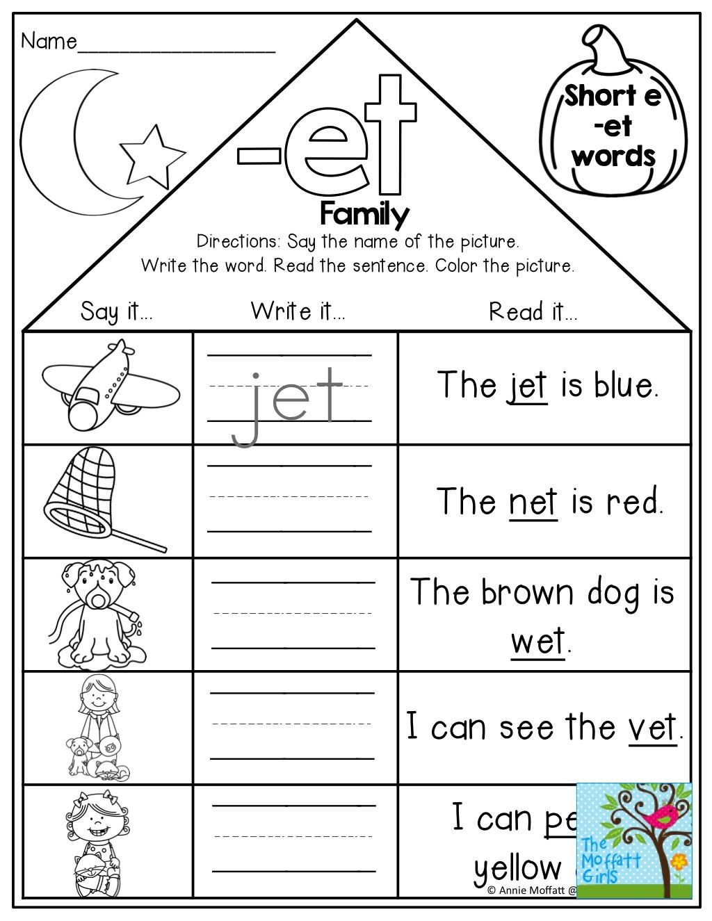 Word Family Houses And Tons Of Other Fun Printables! | Kindergarten | Family Printable Worksheets