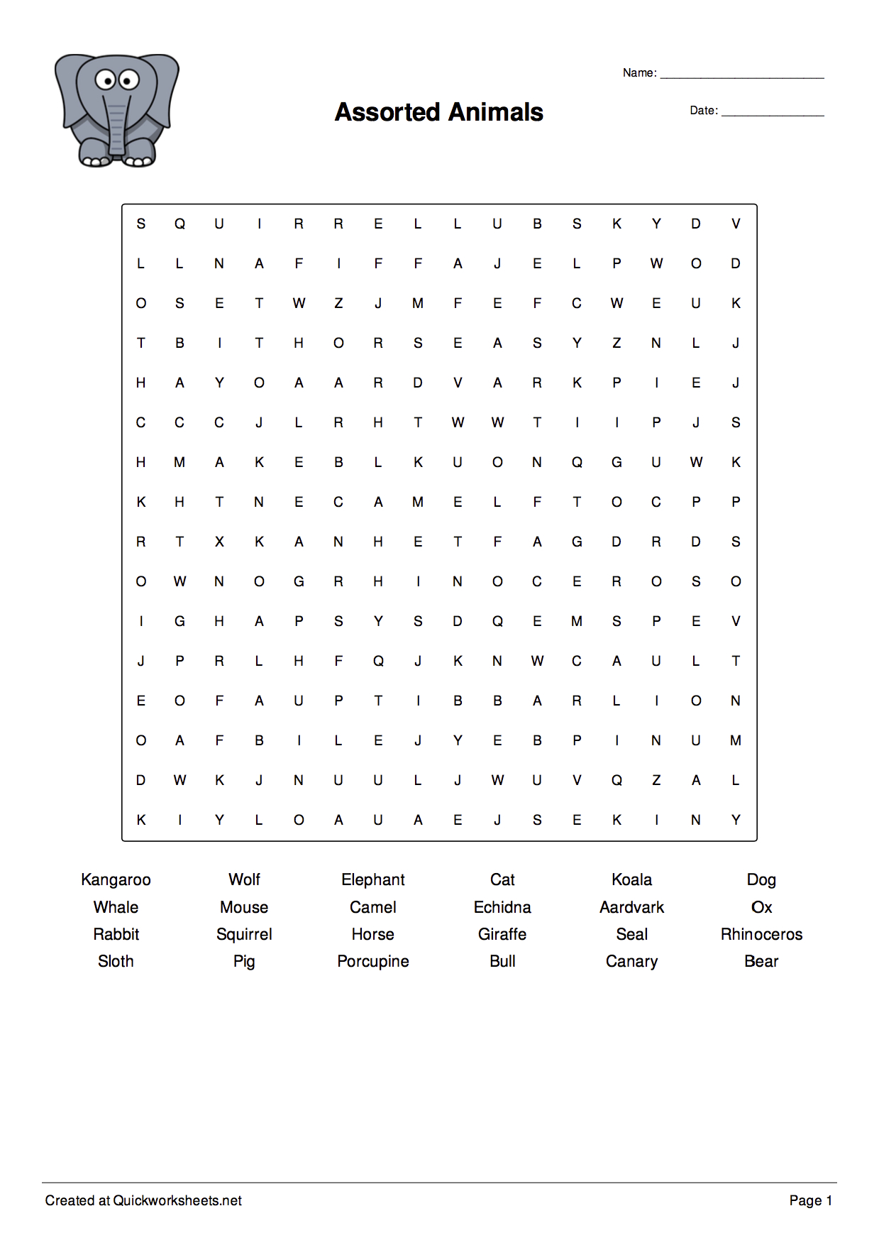 Word Scramble, Wordsearch, Crossword, Matching Pairs And Other | Free Printable Spelling Worksheet Generator