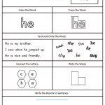 Words Worksheets Sight Words Worksheet For Kindergarten Pdf Sight | Dolch Words Worksheets Free Printable
